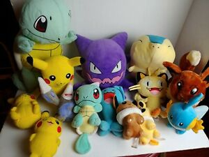 Lot of  Pokemon Plushies. Pikachu + Squirtle and more