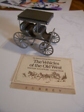 Franklin Mint Pewter Western Heritage Museum Vehicles Of Old West Surrey