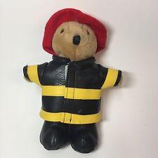 1994 Dakin Fireman Bear Plush Toy Firefighter Stuffed Animal Red Helmet Coat VTG