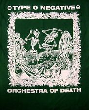 TYPE O NEGATIVE cd lgo 1313 ORCHESTRA OF DEATH Official Green SHIRT XL new
