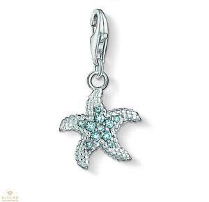 Brand New Thomas Sabo Sterling Silver  Blue CZ set Starfish charm 1344 RRP £49