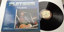 KLP183 - T. Rex - The Platinum Collection (PLAT 1002) UK 2LP, cube records 1981