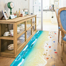 3D Beach Floor Wall Sticker Removable Mural Decals Vinyl Art Living Rome Decor