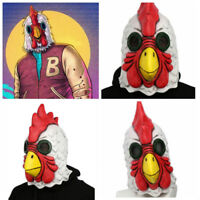 NEW Richard Rooster Mask Hotline Miami Game Cosplay Props Latex Mask Adult
