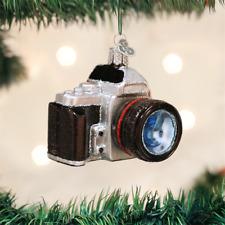 OLD WORLD CHRISTMAS CAMERA PHOTOGRAPHY GLASS CHRISTMAS ORNAMENT 32227