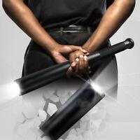 Black Baseball Bat LED Flashlight Q5 Cree Waterproof Security Super Bright Torch
