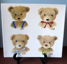Gien Bears Ours Square Serving Plate Teddy Bear Portrait Motif New