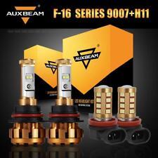 Auxbeam 9007 Hi-Lo LED Headlight+H11 H8 Fog Bulbs for Nissan Frontier 2005-2018