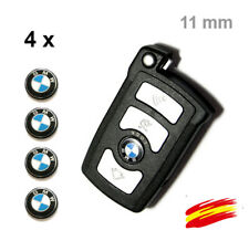 4 x Logo  Emblemas Auto-Adhesivo Pegatinas 11 MM  para  bmw LLAVE MANDO KEY