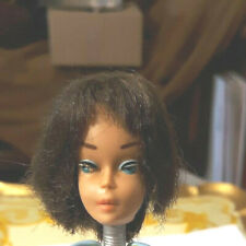 VINTAGE MATTEL BRUNETTE AMERICAN GIRL BARBIE DOLL HEAD TLC HAS POTENTIAL