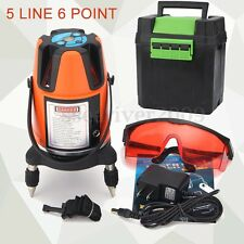 Professional 5 Line 6 Point Cross Rotary Laser Level Measure 4V1H Self Leveling
