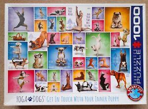 "EUROGRAPHICS "" YOGA DOGS "" 1000 PIECE JIGSAW PUZZLE"