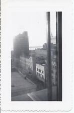 #602P Vintage Photo View Downtown Holland Michigan 1951 out of Upstairs Window