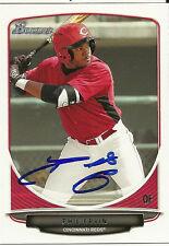 2013 Bowman PHIL ERVIN Signed Card REDS rc auto #1 PICK LEROY, AL