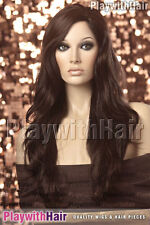 XXLong Tousled Side Part Wig Cappucino Brown