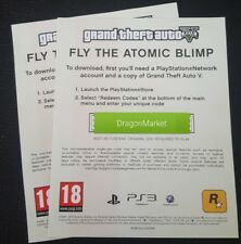 CODICE - CODE PS3 GTA 5 Grand Theft Auto V FLY THE ATOMIC BLIMP