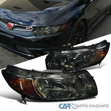 For 2006-2011 Honda Civic 2Dr Coupe Smoke Headlights+Amber Signal Corner Lamps