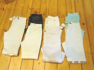 7 WHITE BLUE CAMOUFLAGE JEANS PANTS TROUSERS RIPPED SIZE 10 DENIUM COMPANY
