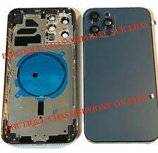 Backcover für iPhone 12 PRO und 12 PROMAX SCHWARZ BLAU mit Logo / NEUN