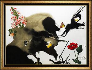 Salvador Dali Color Lithograph Original Signed Four Seasons Artwork Authentic