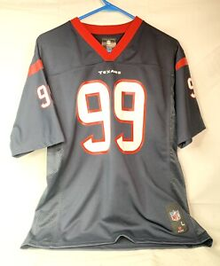 NFL Houston Texans JJ Watt #99 Blue Red White Jersey Youth Boys Large