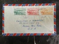 1950s Port Vila New Hebrides Cover To Akron NY Usa