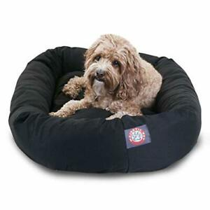 32 inch Black Bagel Dog Bed By Majestic Pet Products