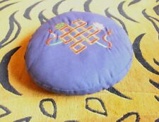 Endless Knot Embroidered Blue Round Meditation Cushion MC19BL