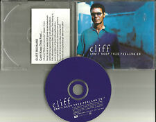 CLIFF RICHARD Can't Keep this Feeling In UK Made PROMO DJ CD Single USA SELLER