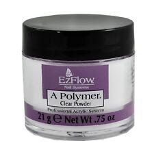 Ezflow Professional Nail Acrylic Powder Clear 0.75oz