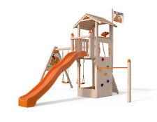 ISIDOR Dori Spielturm Kletterturm mit XXL Rutsche Kletterwand 1,50 m Podesthöhe