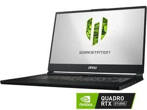 MSI WS65 9TK-688 i7-9750H Quadro RTX 3000 32GB DDR4 512GB NVMe SSD VR READY