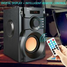 More details for portable bluetooth wireless speaker outdoor subwoofer heavy bass fm with remote