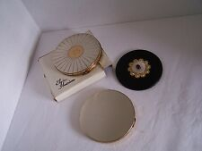 Lot 2 Vintage Powder Compacts & 1 Vintage Purse Hand Mirror Very good Condition