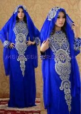 Diseñador Marroquí Caftán Jalabiya Farasha Suelo Largo Varias Elegante Islámico