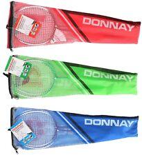 Donnay 191764 Badminton-Set - je 2 Schläger, 3 Federbälle und inkl. Tasche
