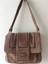 XUDE LONDON real leather ladies light brown underarm shoulder bag