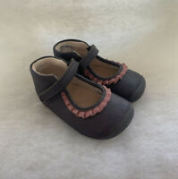 Girls Clarks Pre Walker Little Stef Grey Leather Sizs 4.5G