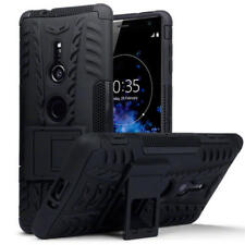 Durable Shockproof Rugged Hard Case Cover for Sony Xperia XZ2 - Black