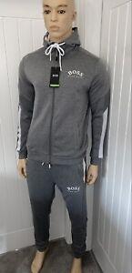Hugo Boss Tracksuit Hooded Jacket & Pants Mens Grey New Season Size Small  £119