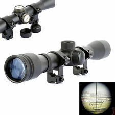 Tactical Detachable Telescope 4x32 Air Rifle Reticle Sight Scope with 20mm Rings