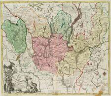 Landkarte d. Kurfürstentums Brandenburg, 1758, kol. Kupferstich
