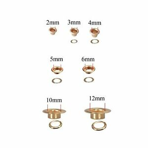 Grommet Eyelets for Canvas Arts & Crafts 2mm 3mm 4mm 5mm 6mm 8mm 10mm 11mm 12mm