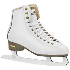 Lake Placid Alpine 900 Women's Traditional Figure Ice Skate, White, Size 5