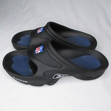Reebok NFL Shower Shoes Sandals Slides Mens 6 Womens 8 Black