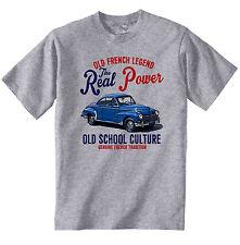 VINTAGE Francese AUTO PEUGEOT 203 COUPE-NUOVO T-shirt di cotone