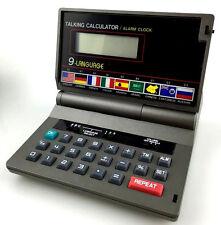 Taschenrechner Vintage Sprechender Talking Calculator 9 Language Alarm Clock