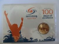 Australia 2009 Celebrating 100 Years Excellence Swimming $1 Coin Elizabeth UNC