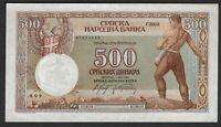 Vintage UNC Banknote Serbia 1942 500 Dinara Pick 31 US Seller