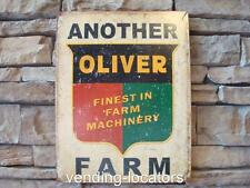 OLIVER tractor logo metal sign Another Oliver farm finest in farm machinery 1775